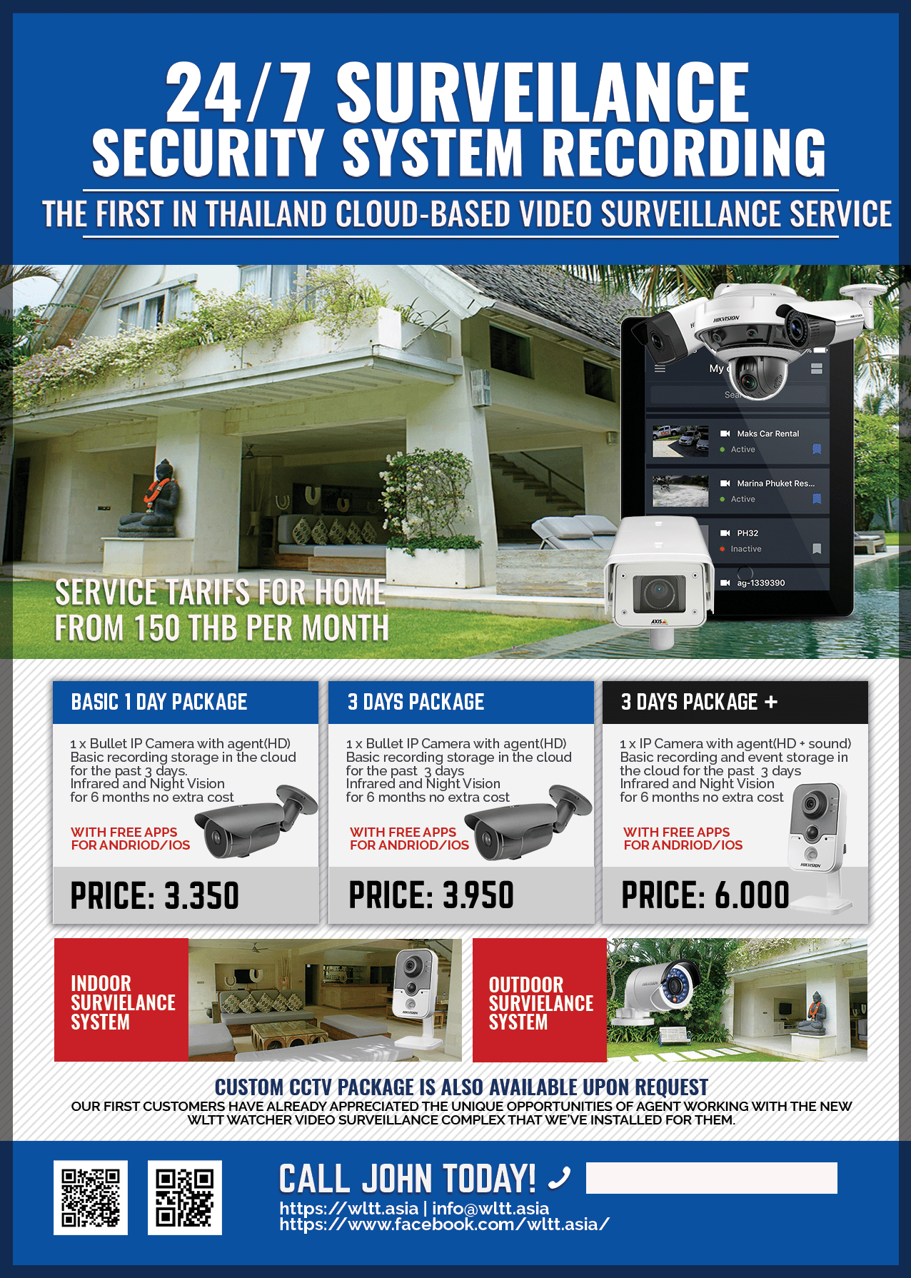 Product Flyer A4 blue - Service tariffs for home