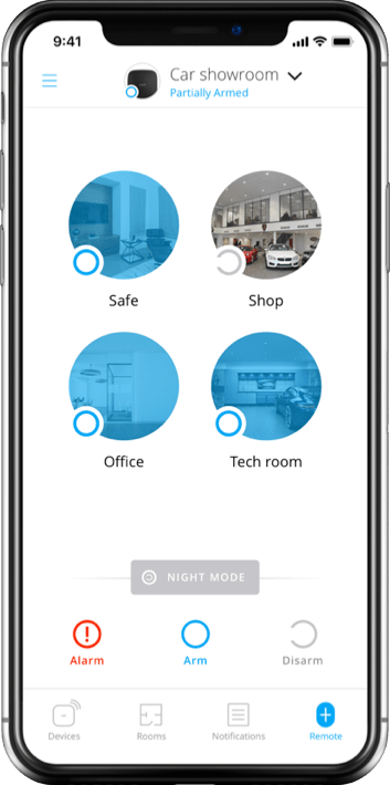 app remote 1x 1 - Ajax - Wireless technology on guard of family and business